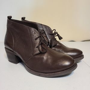 Hush Puppies leather ankle boots [N1E]